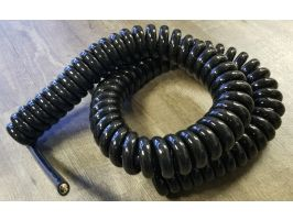 Power Coiled Cord   12 Gauge with 4 Conductors   No Shield