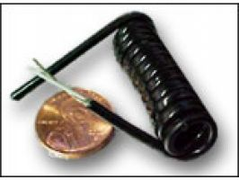 Electronic Coiled Cord | 28 Gauge with 2 Conductors | Aluminum  Shielded
